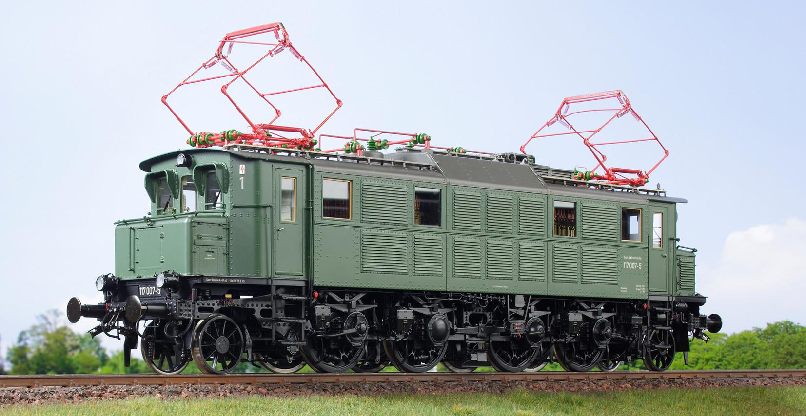 Spur 1 Lokomotive Baureihe 117 007-5 Epoche IV chromoxydgrün