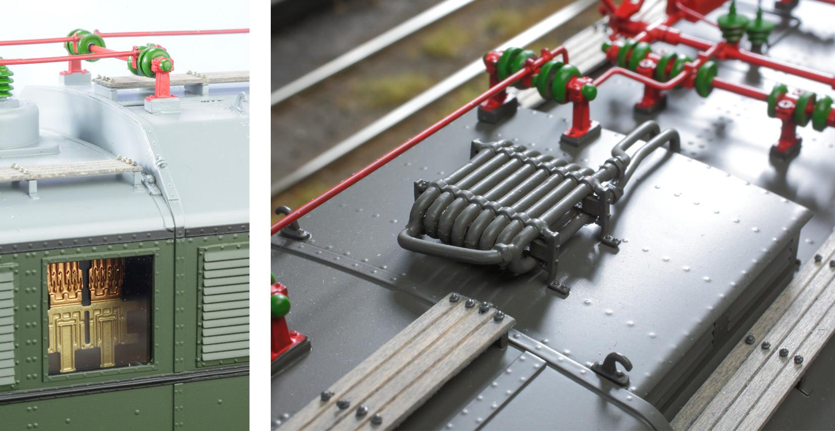 Spur 1 Lokomotive Baureiche E 17 Detailansicht Dach