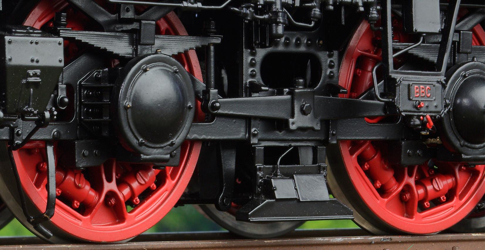 Spur 1 Lokomotive Baureiche E 17 Detailansicht Räder