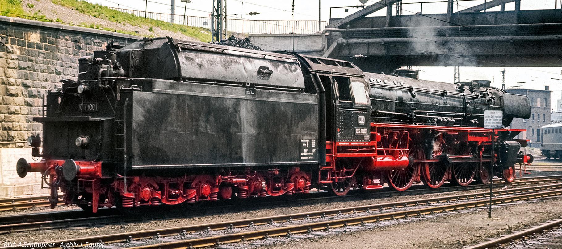 Vorlage Baureihe 03.1001 DB mit Neubaukessel von hinten