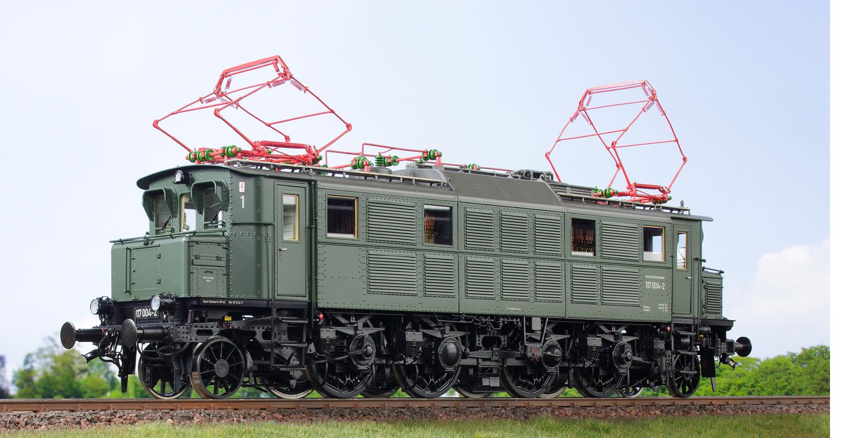 Spur 1 Lokomotive Baureihe 117 004-2 Epoche IV flaschengrün
