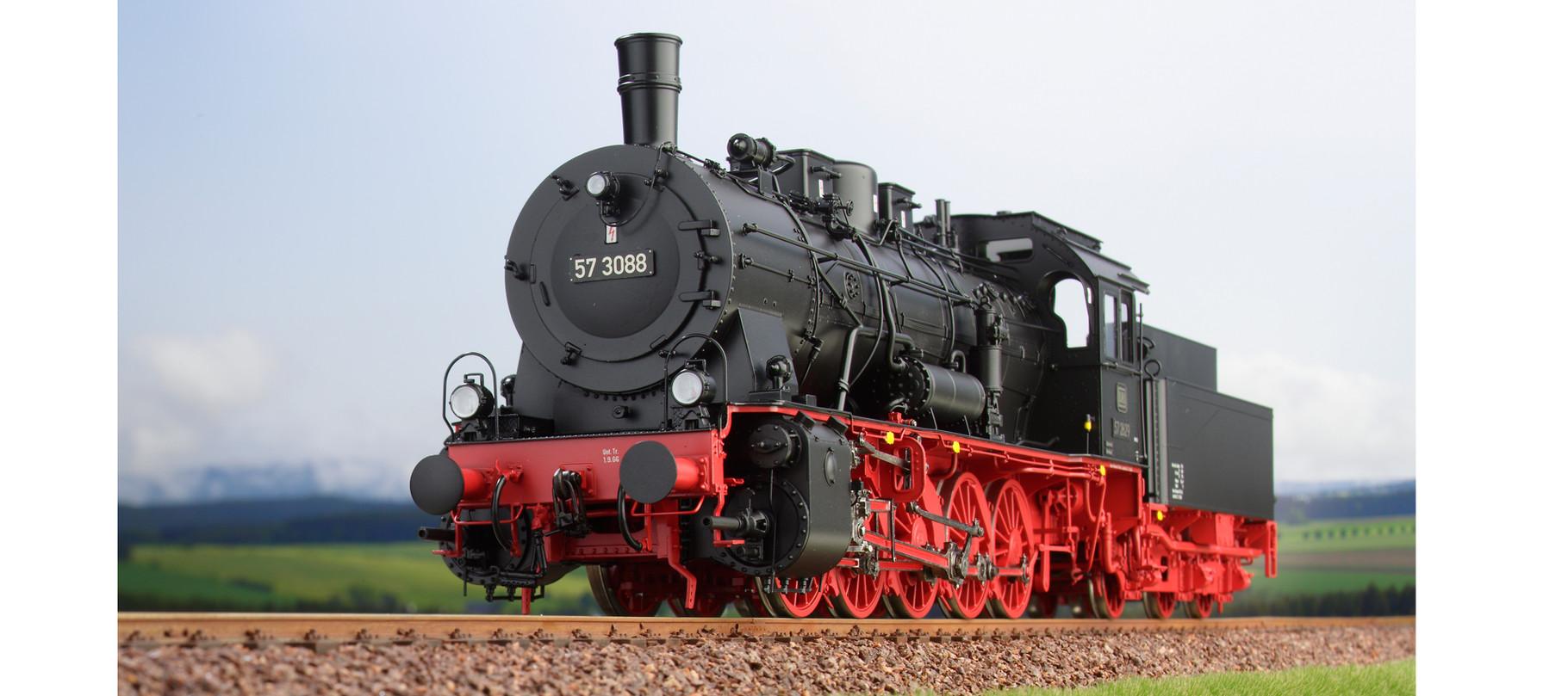 Spur 0 Baureihe 57.10 preussische G10 Lokomotive Nr. 57 3088 Epoche III
