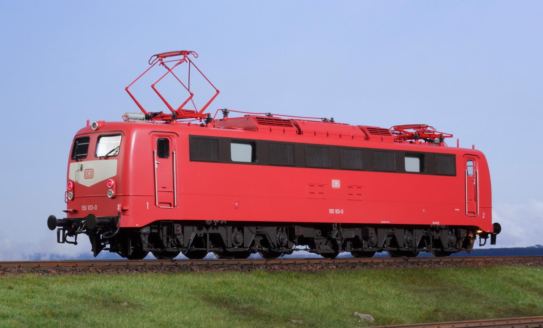 Spur 1 Lokomotive 150 103-0 DB orientrot Epoche V mit Doppellampe