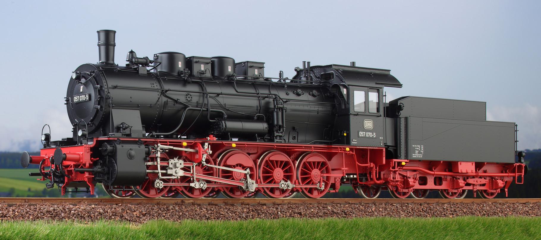 Spur 0 Baureihe 57.10 preussische G10 Lokomotive Nr. 057 070-5 Epoche IV