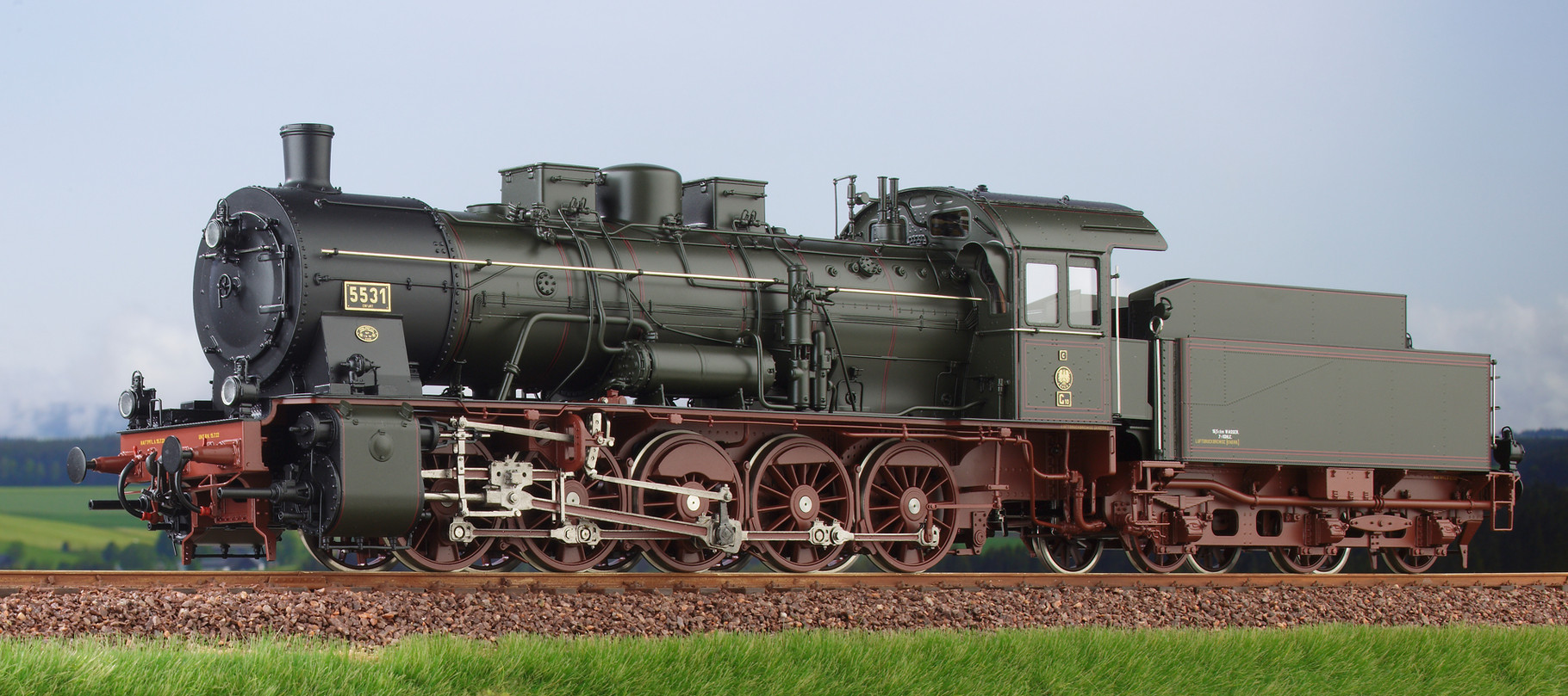 Spur 0 Baureihe 57.10 preussische G10 Lokomotive Nr. 5531 Erfurt Epoche I