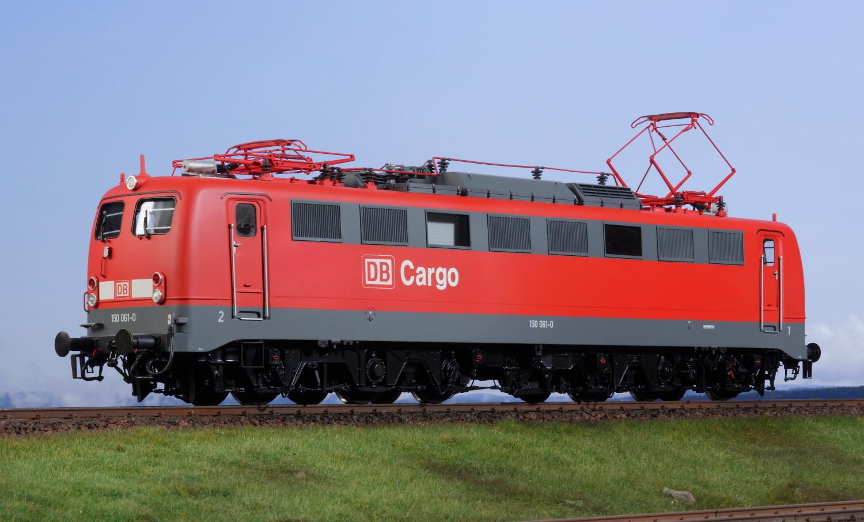 Spur 1 Lokomotive 150 061-0 DB AG verkehrsrot Epoche V mit Doppellampe