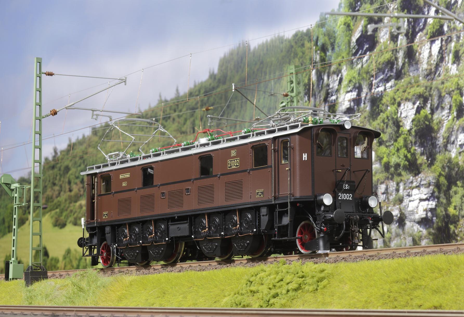 Spur 1 Lokomotive Baureihe ES1 21002 Epoche IIb rotbraun