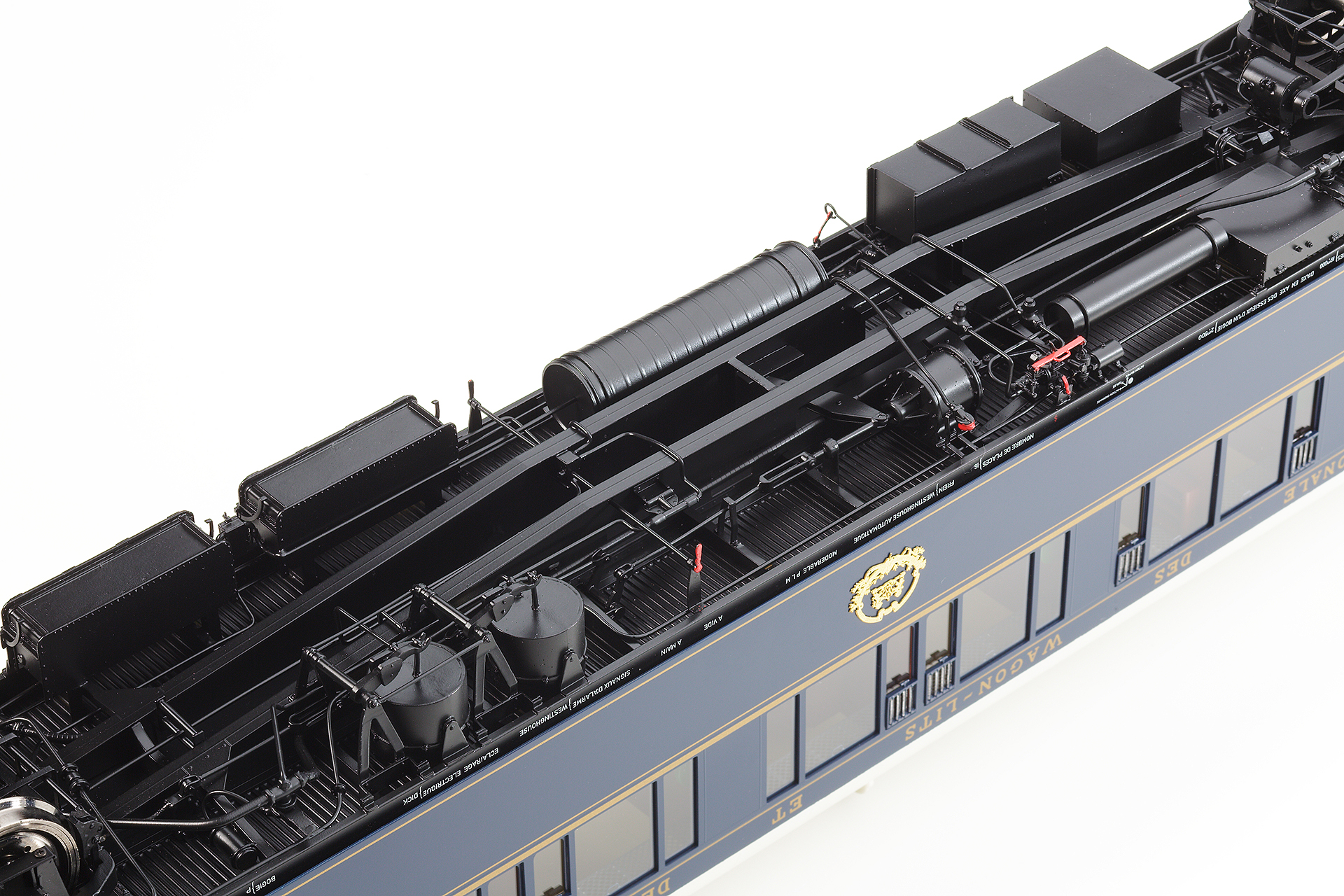 Spur 1 Orientexpress vollständige Nachbildung der Saug- und Druckluftbremsanlage