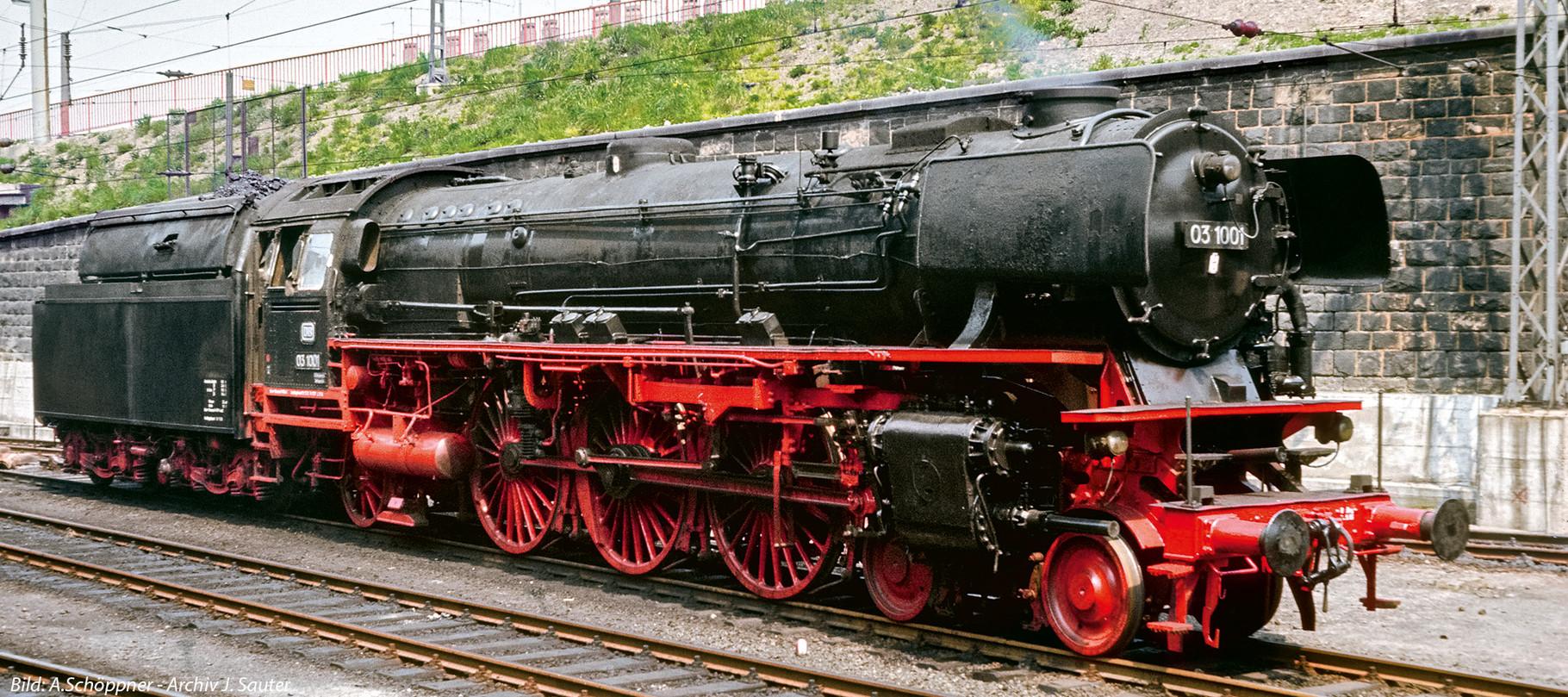 Vorlage Baureihe 03.1001 DB mit Neubaukessel von vorne