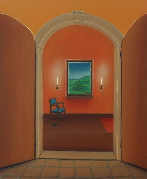 #Klassische_ Malerei#Lasurmalerei#Das_Tor#Eingang#Blick_durch_das_Fenster#Landschaft#Thomas#Klee