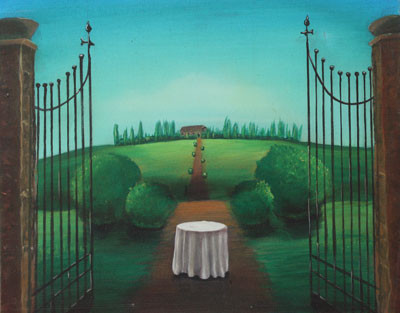 #Klassische_ Malerei#Lasurmalerei#Toscana#Weg#Tor#Thomas#Klee
