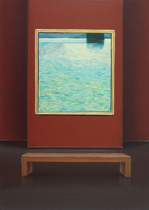 #Klassische_ Malerei#Lasurmalerei#Gustav_Klimt#Die_Insel#Museum#Thomas#Klee