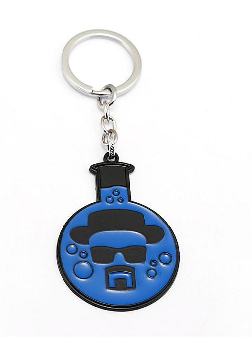 Portachiavi ispirato a Breaking Bad simbolo chimico Br Ba Liz Collection da uomo in metallo