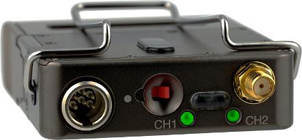 Lectrosonics DCHT Portable Digital Stereo Transmitter + 2-Kanal Digital Sender + 144 MHz Schaltbandbreite + Funk-Tieline vom Mischer zum Camcorder