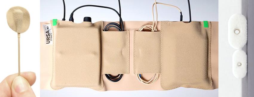 Ursa Straps Taschensender und Ansteckmikrofon verstecken Störgeräusche vermeiden Windschutz