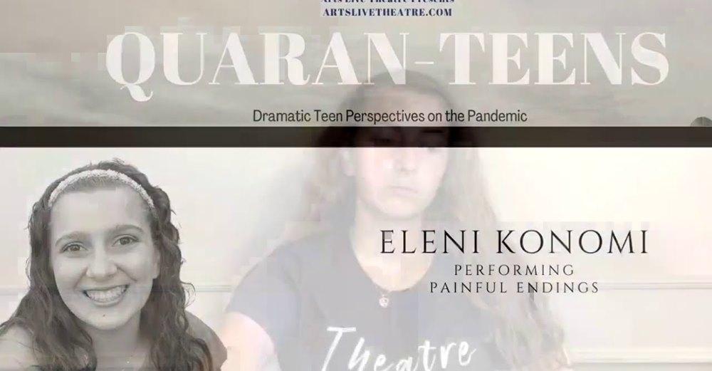 Quaran-Teens: Eleni Konomi performing Painful Endings