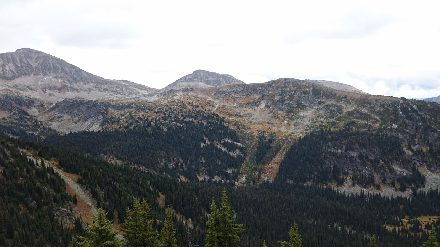hiking up to trophy mountain