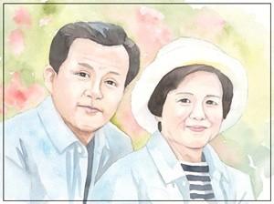 ご両親の似顔絵サンクスボード-作品例7