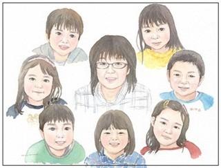 大人数の似顔絵作品例16