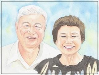 ご両親の似顔絵サンクスボード-作品例8