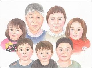 大人数の似顔絵作品例13