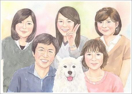 大人数の似顔絵作品例7-結婚式