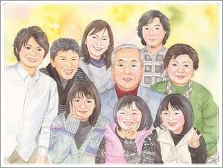 家族 似顔絵 プレゼント
