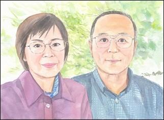 ご両親の似顔絵サンクスボード-作品例6