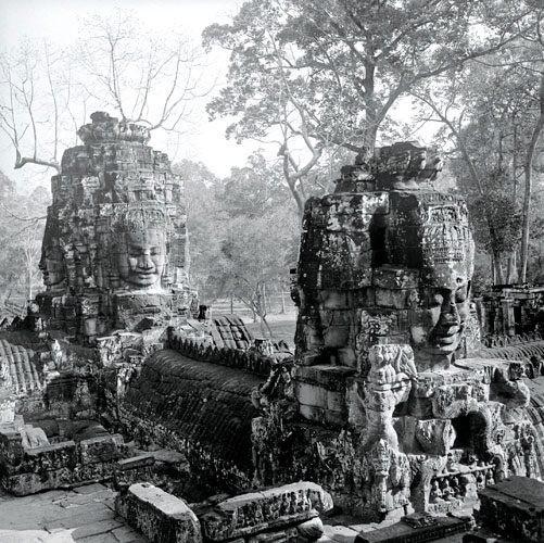 Templo Bayon, año 1937.