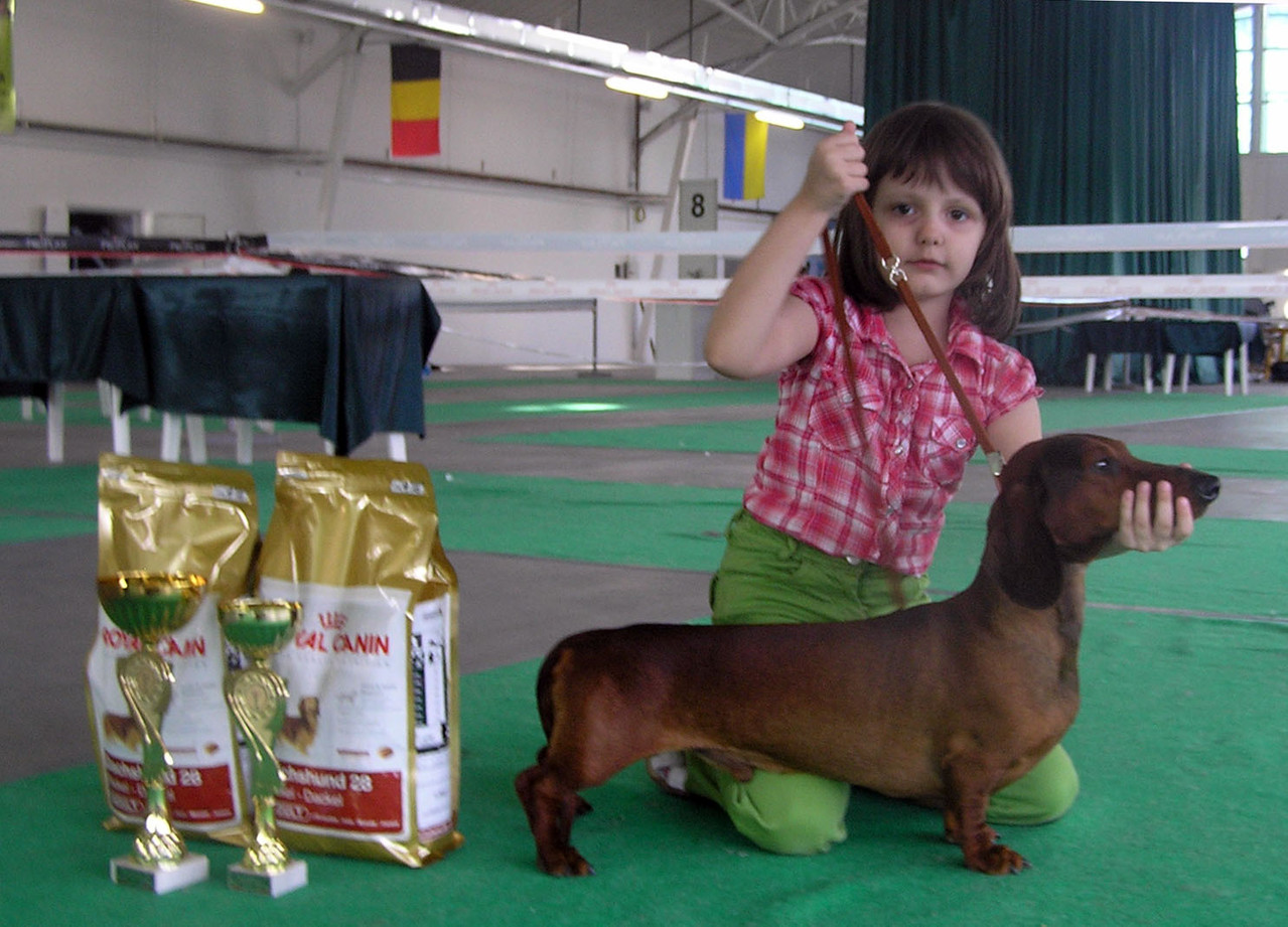 Niki (6 years old) with Goldader Prior