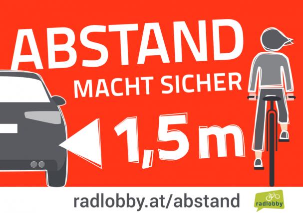 Radlobby: Abstand macht sicher