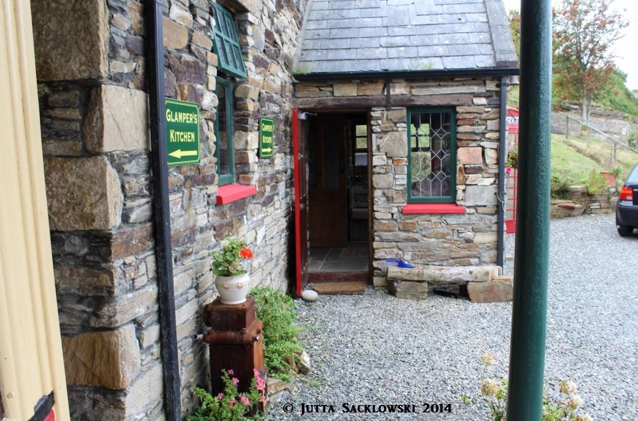 Eingang zur Küche im Hostel