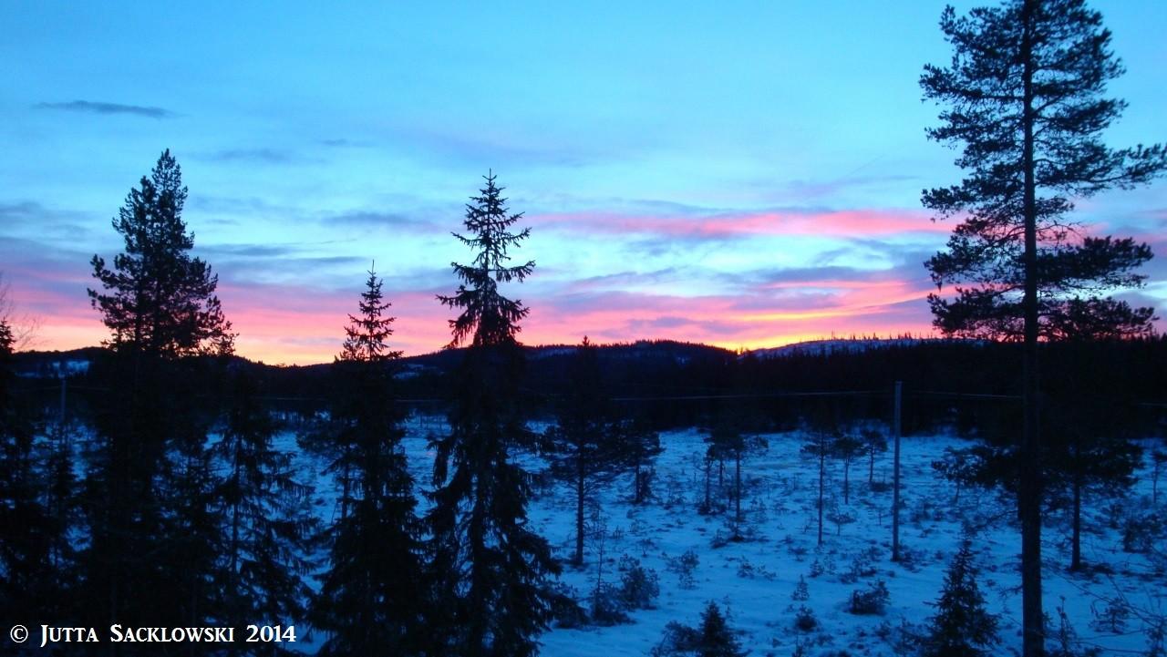 Morgenrot über Langmyra
