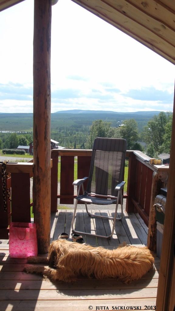 Aussicht über Jämtland von unserer Hütte