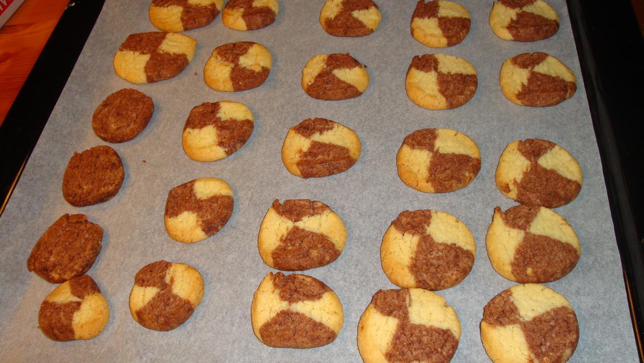 Schwarzweiß-Kekse