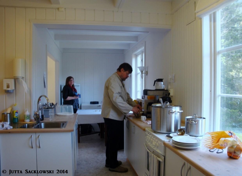 Knut als Kuchenchef