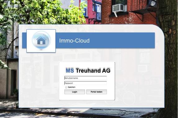 Ausschnitt ImmoCloud Screenshot der Bewirtschaftungsplattform