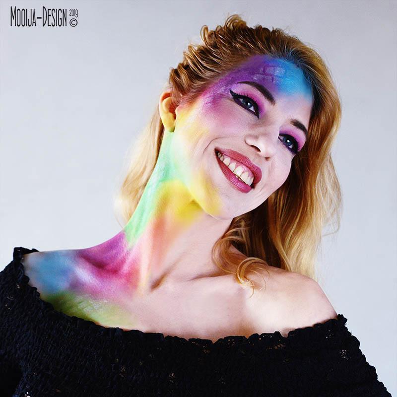 Model Silvia in samenwerking met Esther Smallegoor visagie en Ilse voor Mooija-Design
