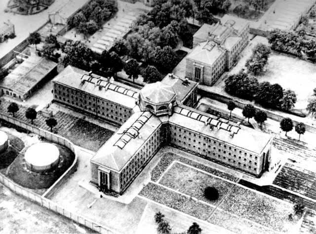 Luftaufnahme Strafgefängnis Berlin-Plötzensee