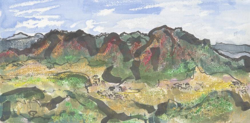 「山のある風景」