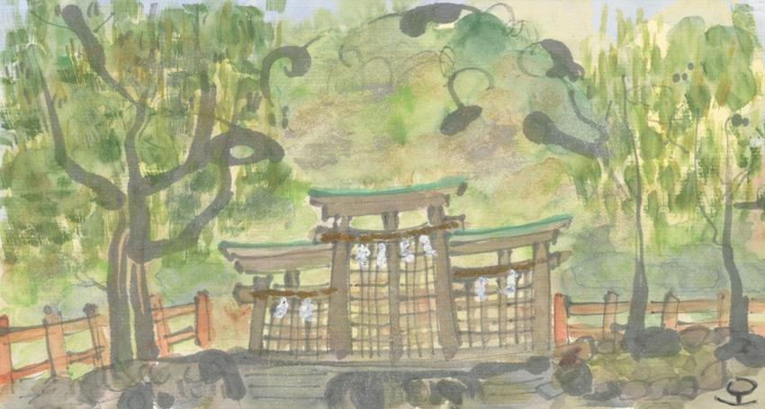 「三輪の檜原神社」