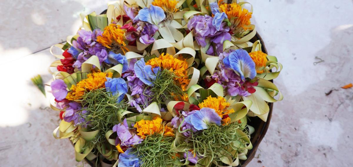 offrandes de fleurs