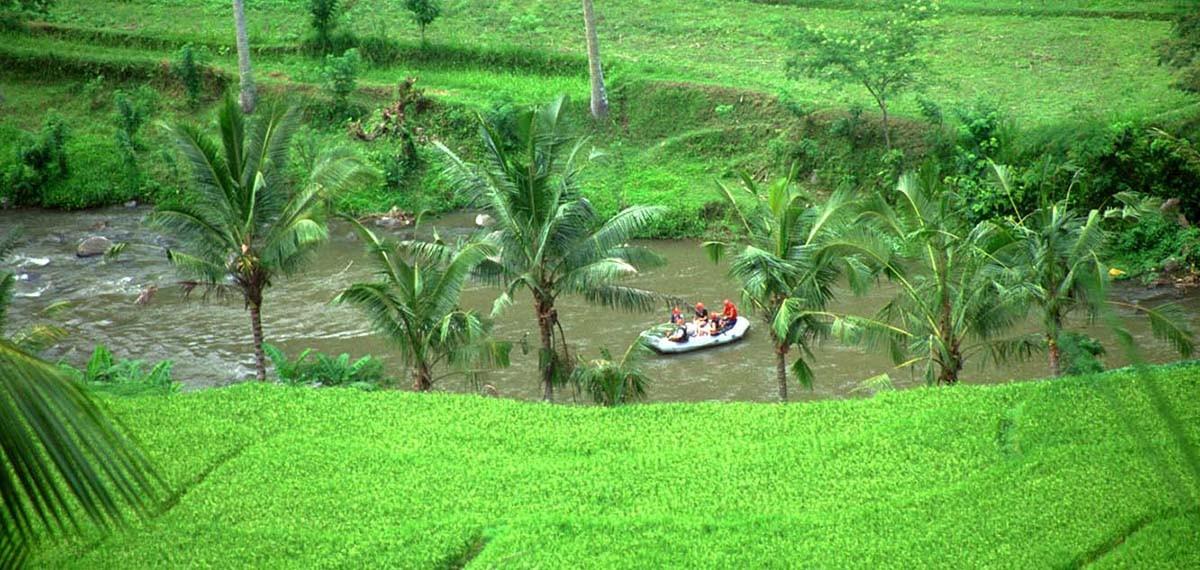 rafting près d'Ubud