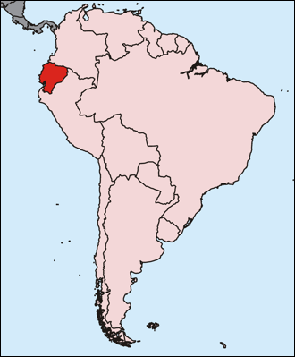 Quito in Ecuador, Südamerika