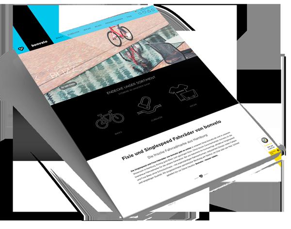 Webdesign Shopware für bonvelo