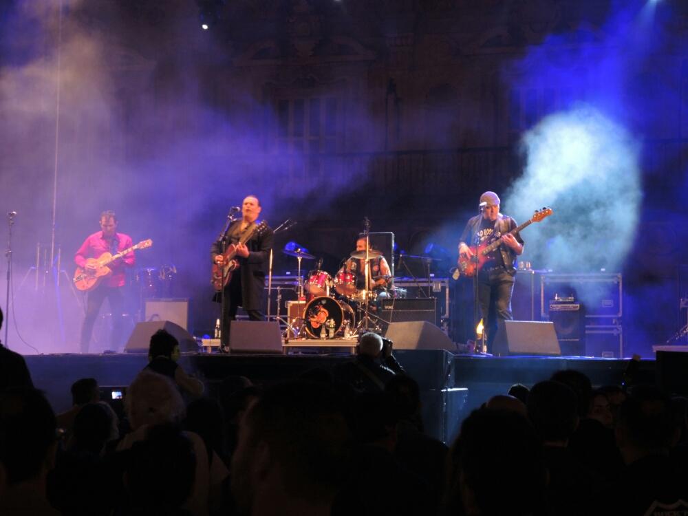 Ein grandioser Rock Konzert  am Marktplatz von Salamanca.