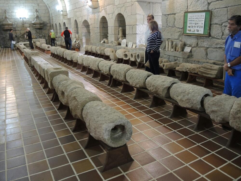 Antike Wasser Röhre gemeistert aus Granit