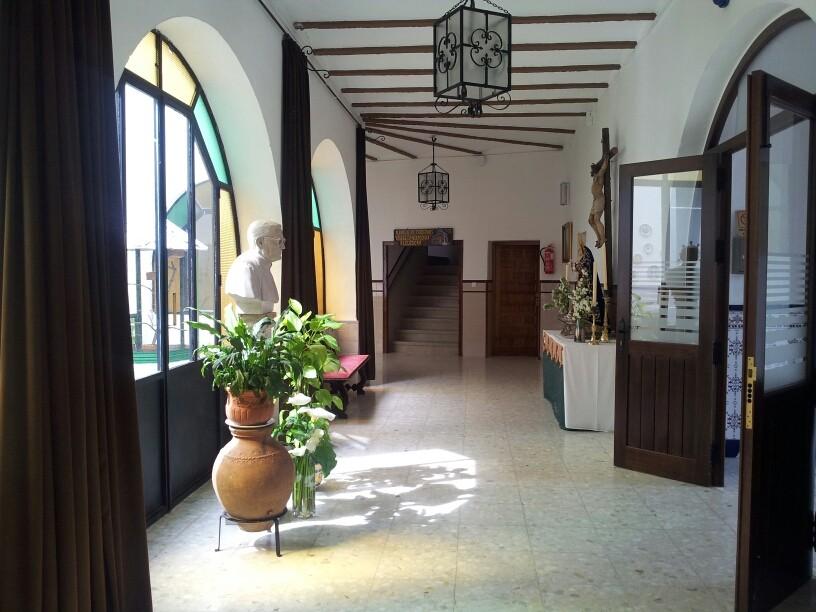 Gepflegte Herberge in einem Kloster in Alcuescar mit koestlichen Essen auf Spenden Basis