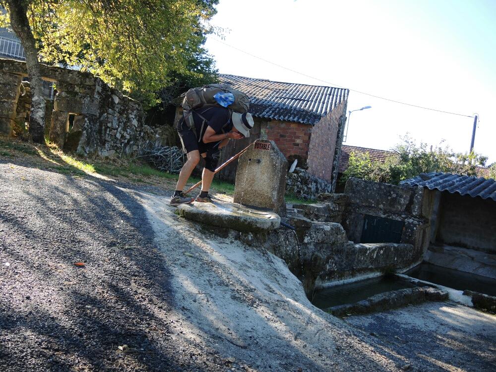 Es gibt in Galicien gutes Quellwasser