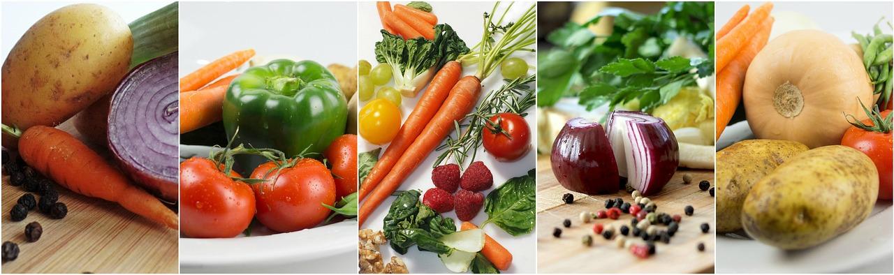 Mercado de verduras y frutas
